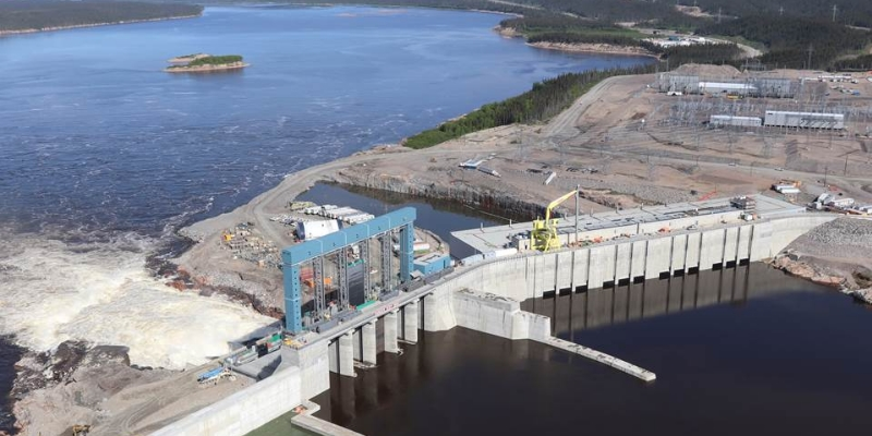 Le barrage de Muskrat Fall, dans le centre du Labrador. - Gracieuseté