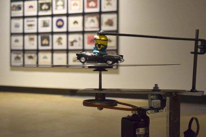 Deux installations de l'exposition Auto sapiens de Christian Michaud. - Acadie Nouvelle: Sylvie Mousseau