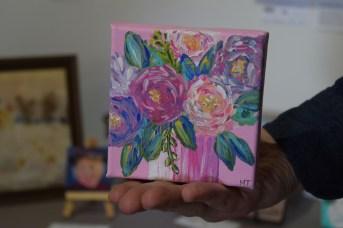 Une oeuvre de Michelle Thibodeau présentée dans le cadre de l'exposition d'art miniature au Studio Acorn. - Acadie Nouvelle: Sylvie Mousseau