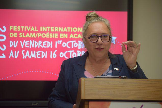 Marie-Thérèse Landry a dévoilé les grandes lignes de la programmation du FISPA. - Acadie Nouvelle: Sylvie Mousseau