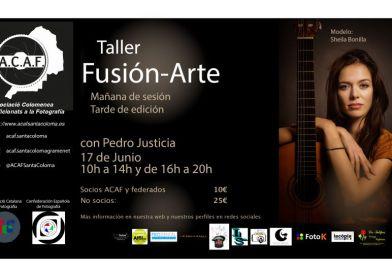 Taller Fusion-arte con Pedro J. Justicia junio 2018 ACAF Santa Coloma