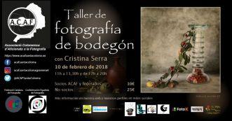 Taller de fotografía de bodegón dia 10 de febrero de 2018 con Cristina Serra en ACAF Santa Coloma