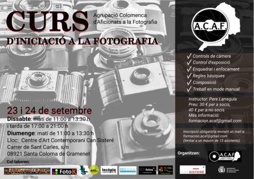 Curs d'iniciació a la fotografia