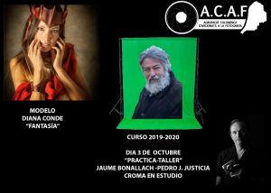 Croma en Estudio con Jaume Bonallach y Diana Conde como modelo