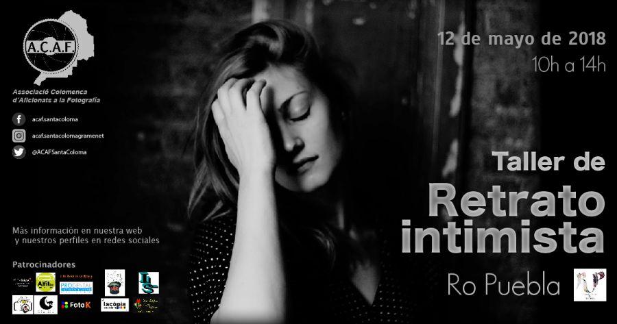 taller de retrato intimista con Ro Puebla RedLandParcel en ACAF Santa Coloma