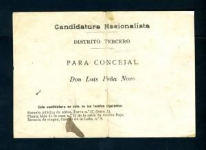 Candidatura nacionalista de Lois Peña Novo