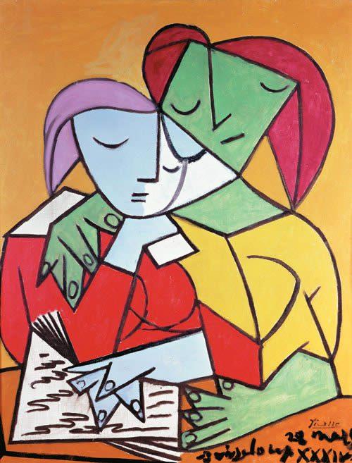 Dúas mulleres lendo. Picasso