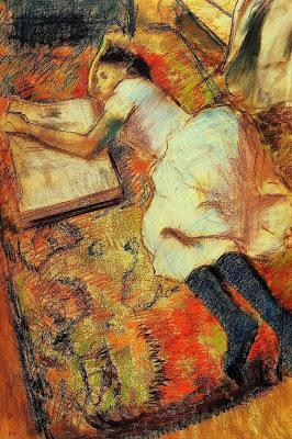 Moza lendo no chan (1889), de Edgar Degas