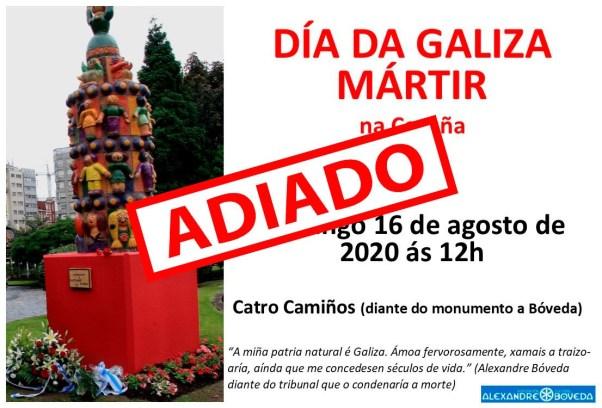Día da Galiza Mártir - Adiado