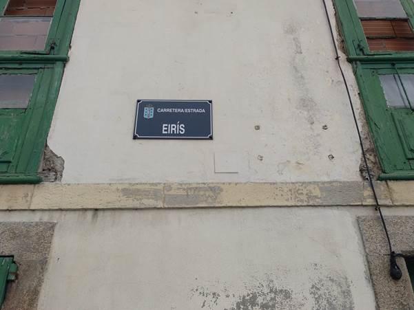 Placa da Estrada Eirís