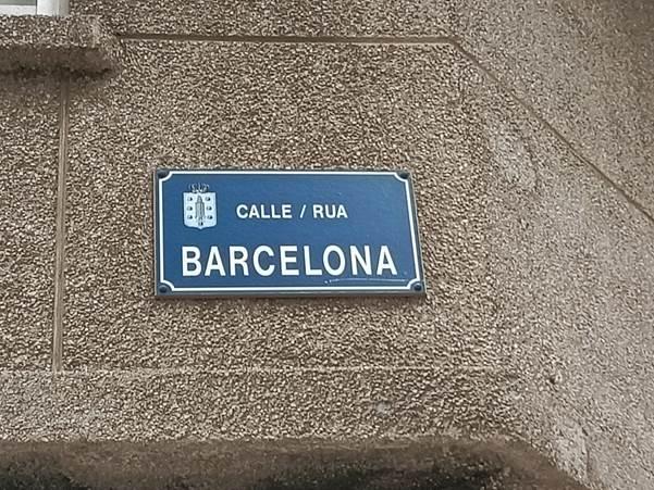 Placa Rúa Barcelona