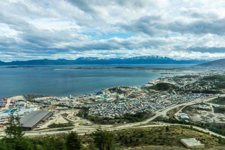 Vista do quarto no hotel no fim do mundo, Arakur Ushuaia Resort & SPA. Foto: Adriana Lage