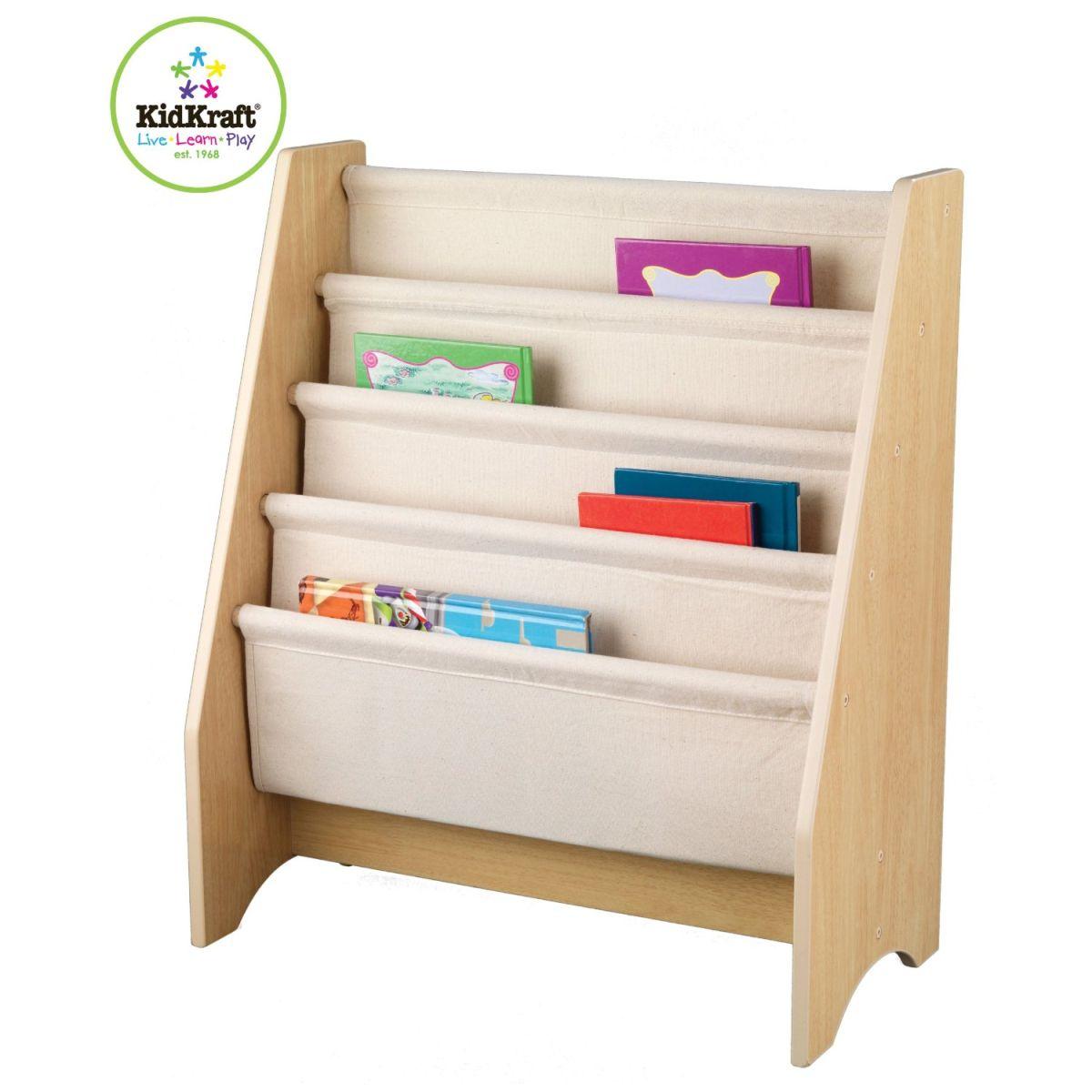 kidkraft bibliotheque pour enfant a compartiment naturel