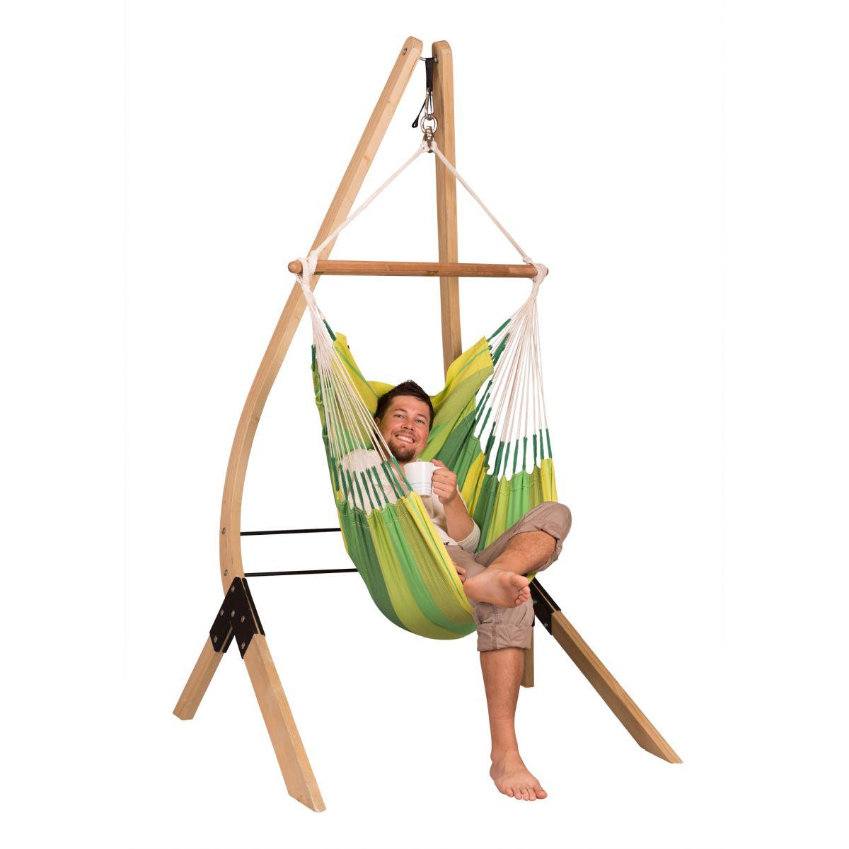 la siesta chaise hamac basic orquidea jungle support en bois vela