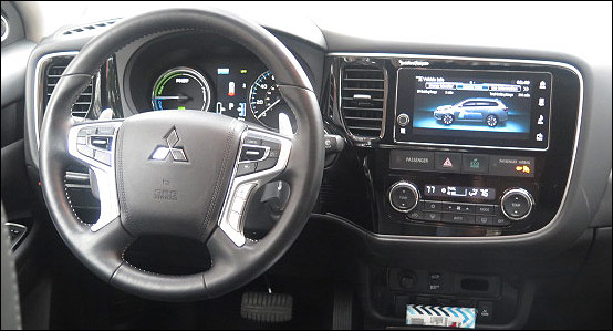 inside Outlander PHEV
