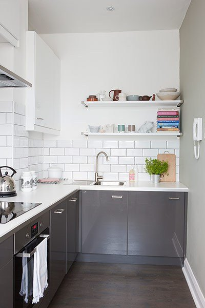 Small White And Grey Kitchen