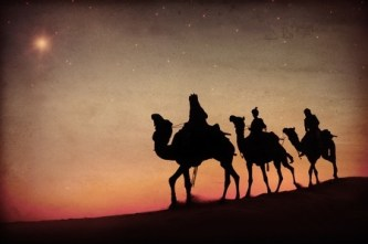 34575115 - three kings desert star of bethlehem nativity concept