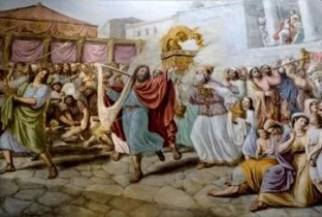 King David Dancing With the Ark of the New Covenant