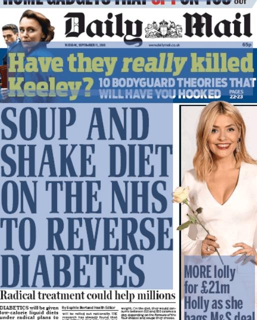 Inghilterra – La dieta Chetogenica VLCKD può salvare milioni di persone