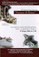 """29° Premio Internazionale """"FONTANE DI ROMA"""""""