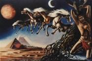 Cavalli alati - olio su tela 70x100