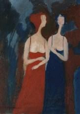 Donne - olio su tela 15x25