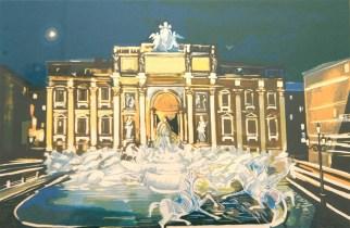 Fontana di Trevi - olio su tela 100x150