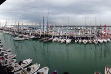 Panoramica del Porto di Genova durante il Salone Nautico