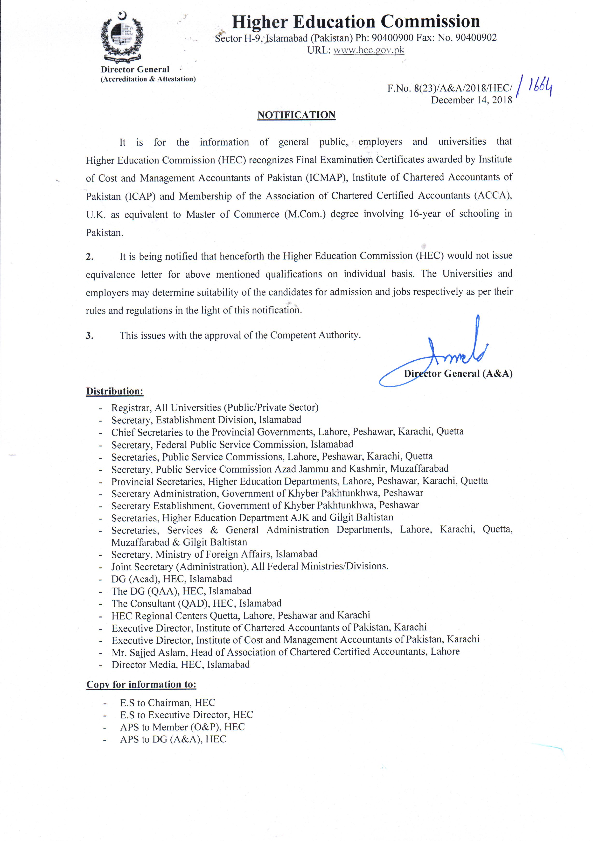 Hec Recognition Of Acca Qualification Acca Global
