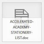STATIONERY LIST