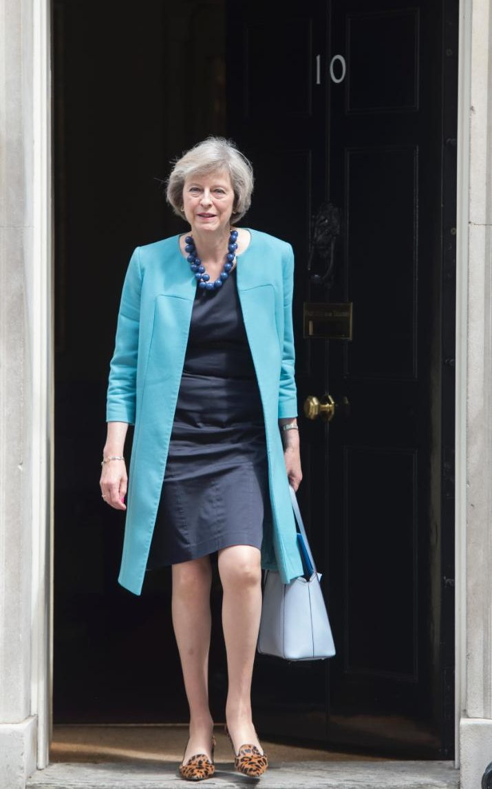 PM outside her house