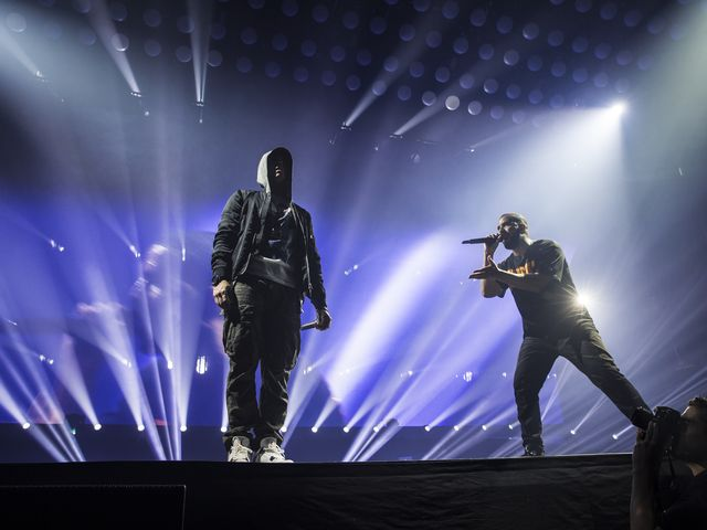 drake eminem on stage detroit tour
