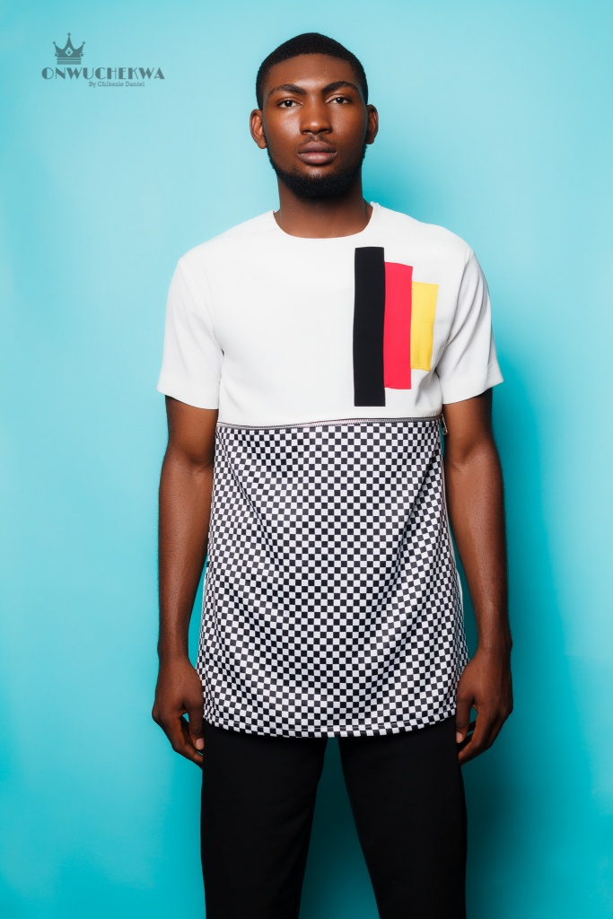 mens top with checkered print 15k-Edit