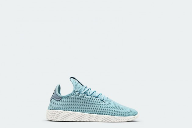 53c606275bb Pharrell and Adidas' debut collection features a set of sock-like  construction and lightweight sneakers with breathable mesh uppers.  Introducing ...