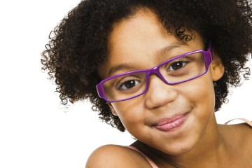 girl wearing eye glasses