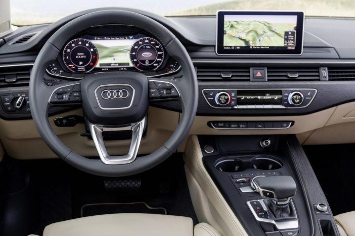 Audi A4 kokpit, ergonoomiline ja kergelt omandatavate töövõtetega