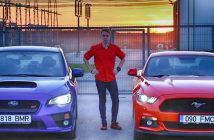 Auto, mees, STI, Mustang