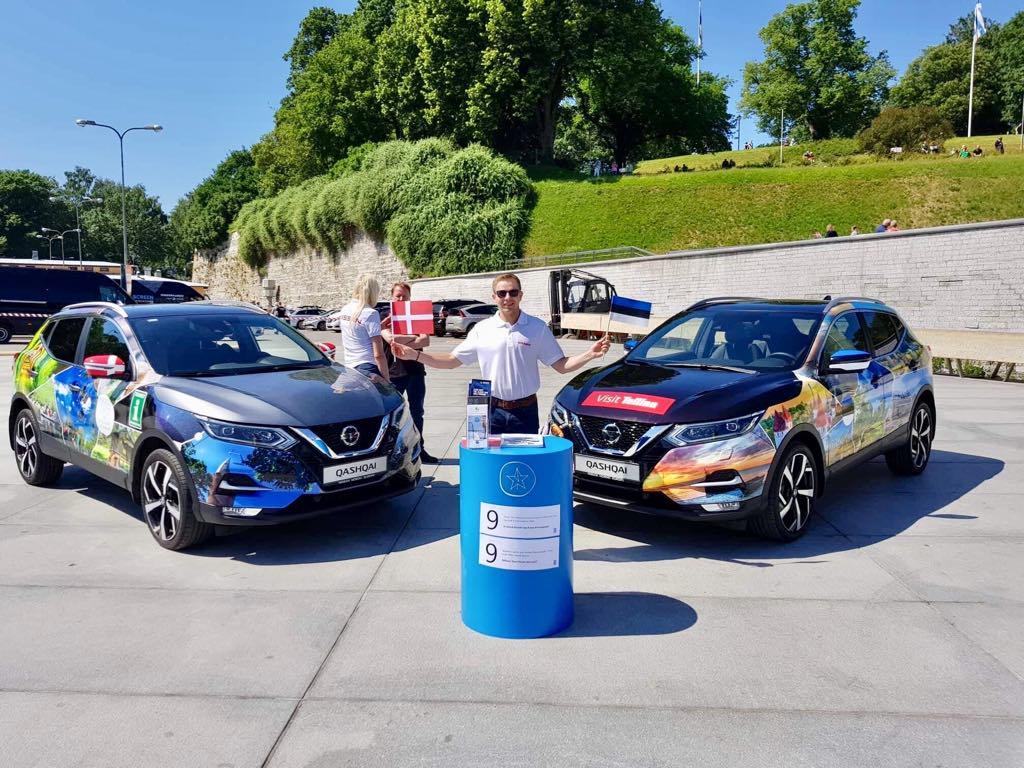 Nissan Qashqaid käisid Tallinnas tervitamas Taani kuningannat