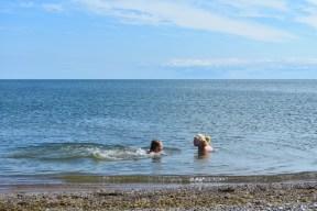 Mõntu rannas oli vesi mõnusalt jahe