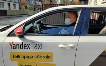 Taksojuht maskiga