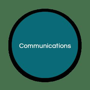 communications circles teal - communications-circles-teal