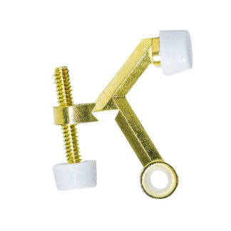 bright brass hinge pin door stop