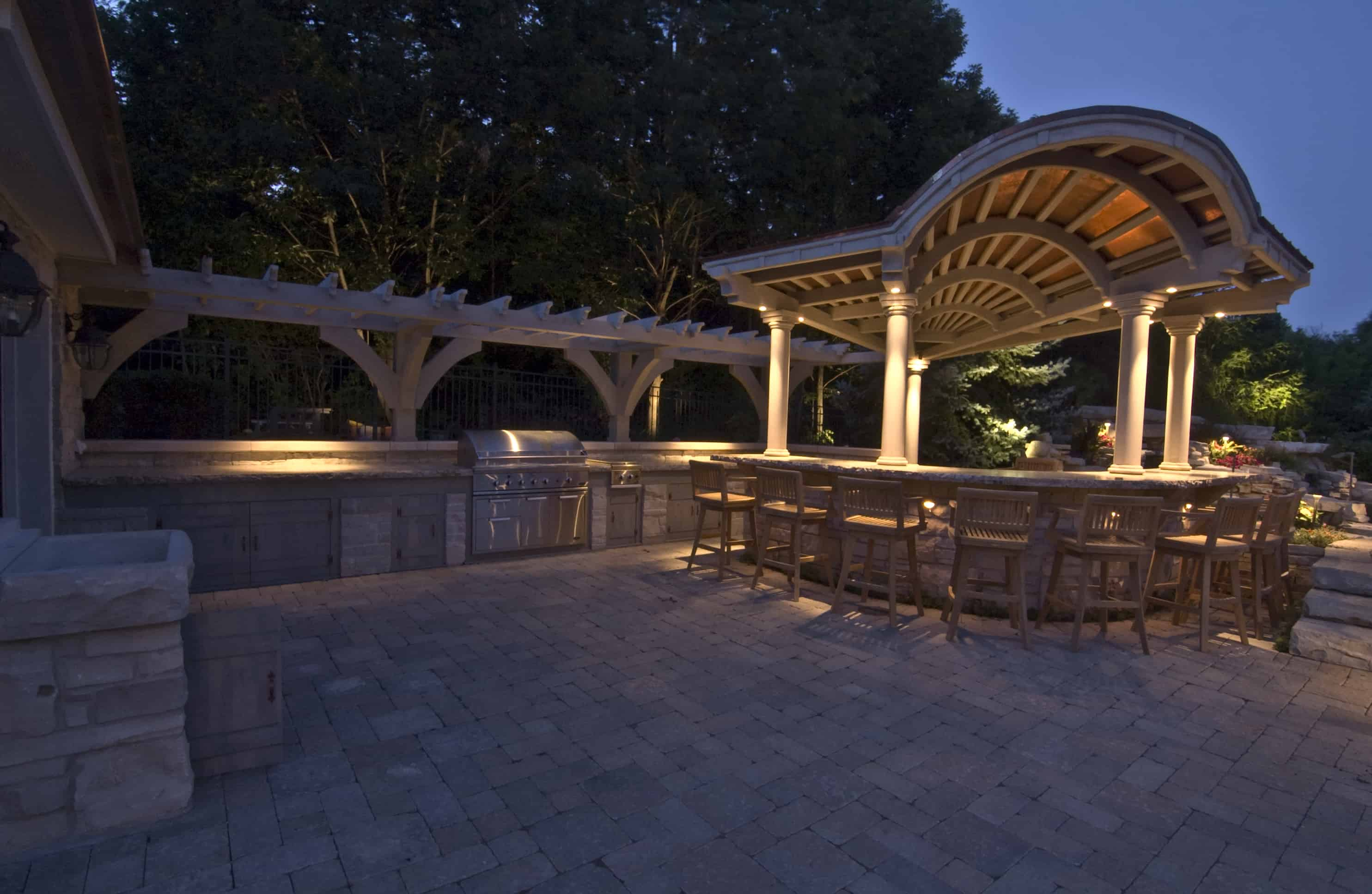 lemont outdoor kitchen lighting