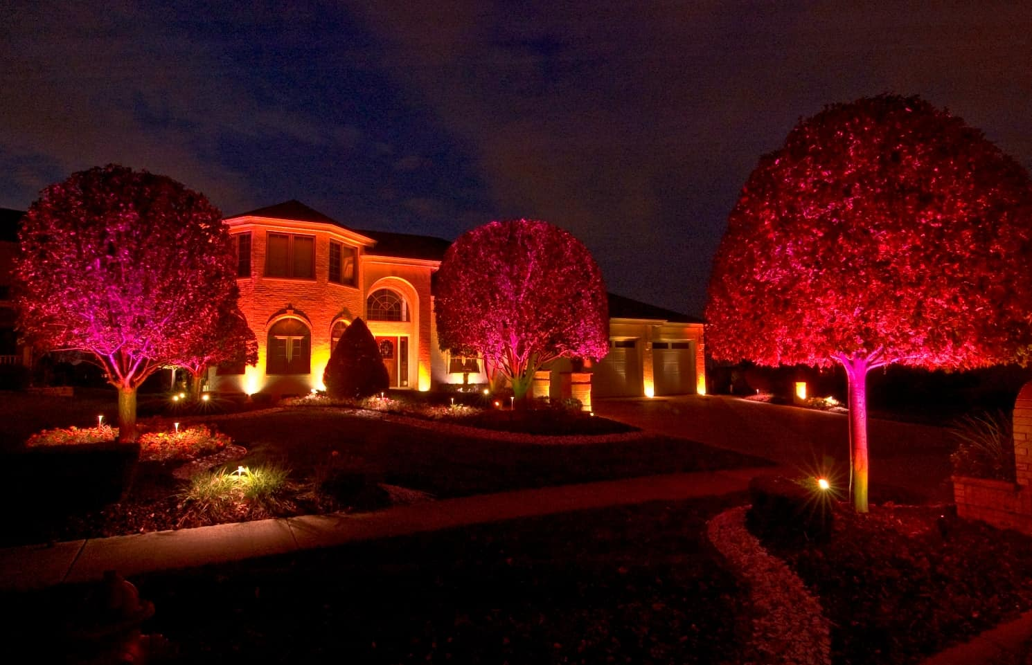 Halloween Outdoor Lighting In Chicago Il Outdoor Accents