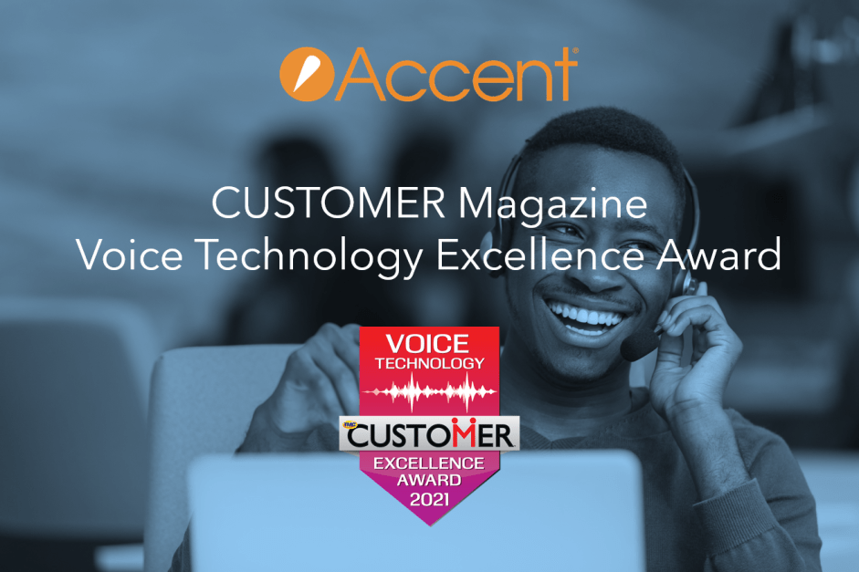 Accent's Cloud Contact Center Receives Voice Technology Excellence Award