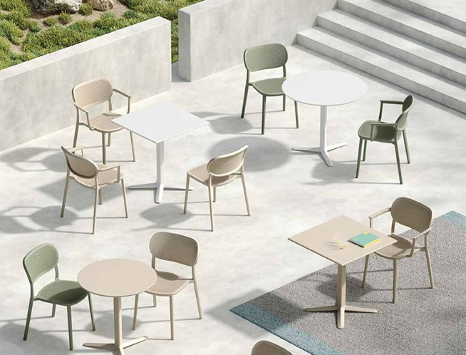 Mobilier terrasse design minimaliste