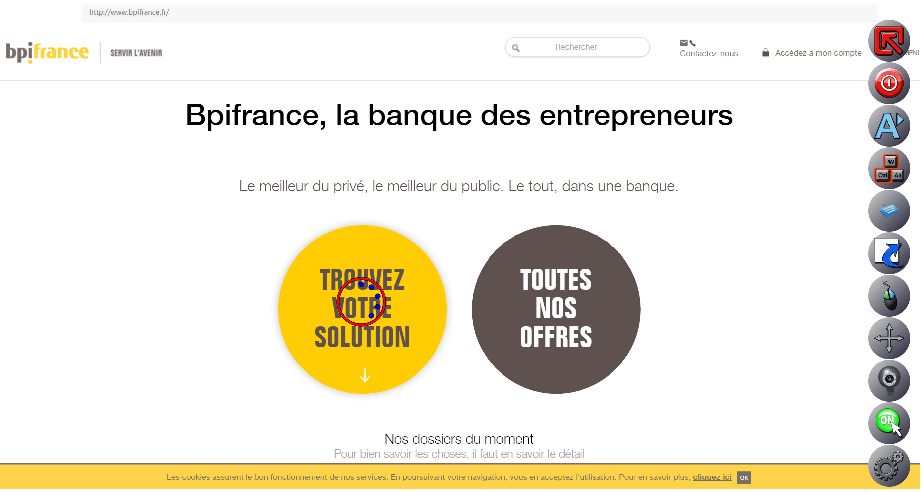 The website BPIFrance Ability Browser-Able!