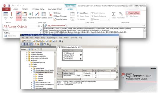 sql commands ms access sql server