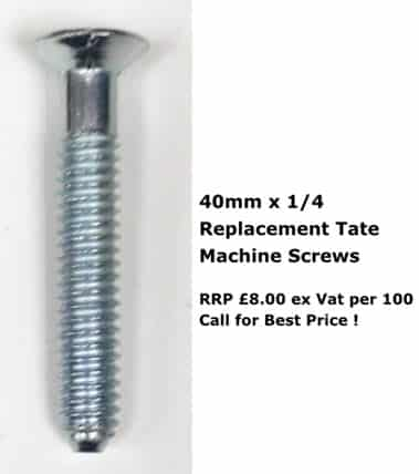 40mm x 1/4 screws tate