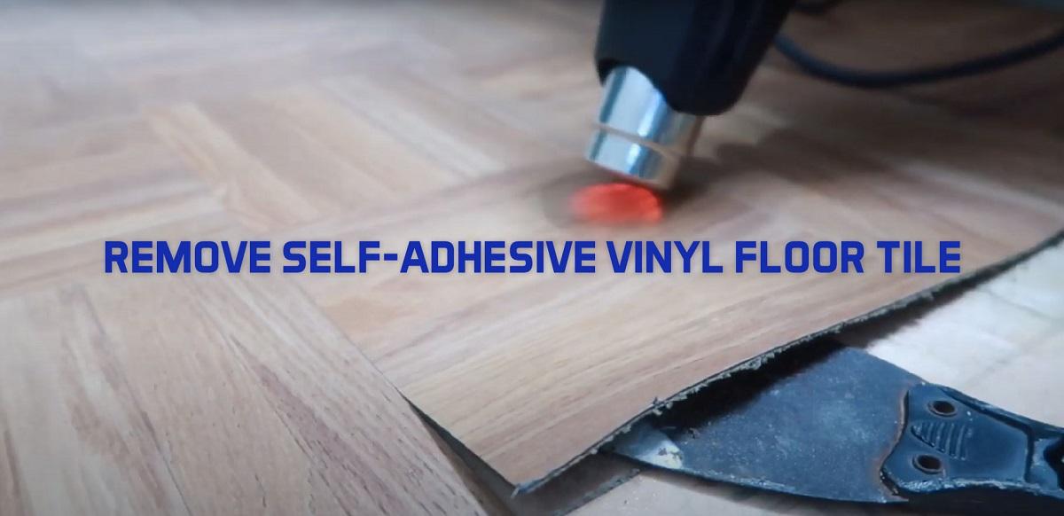 how to remove self adhesive vinyl floor